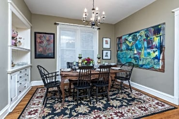 Chicago Guest House on Newport formal dining room with seating for eight